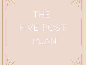 The Five Post Plan to get your content FLOWING!