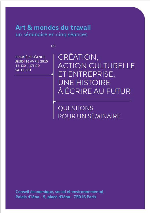 Programme séminaire Art & mondes du
