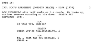 Inherent Vice Screenplay