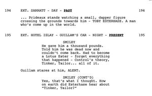 tinker tailor soldier spy script
