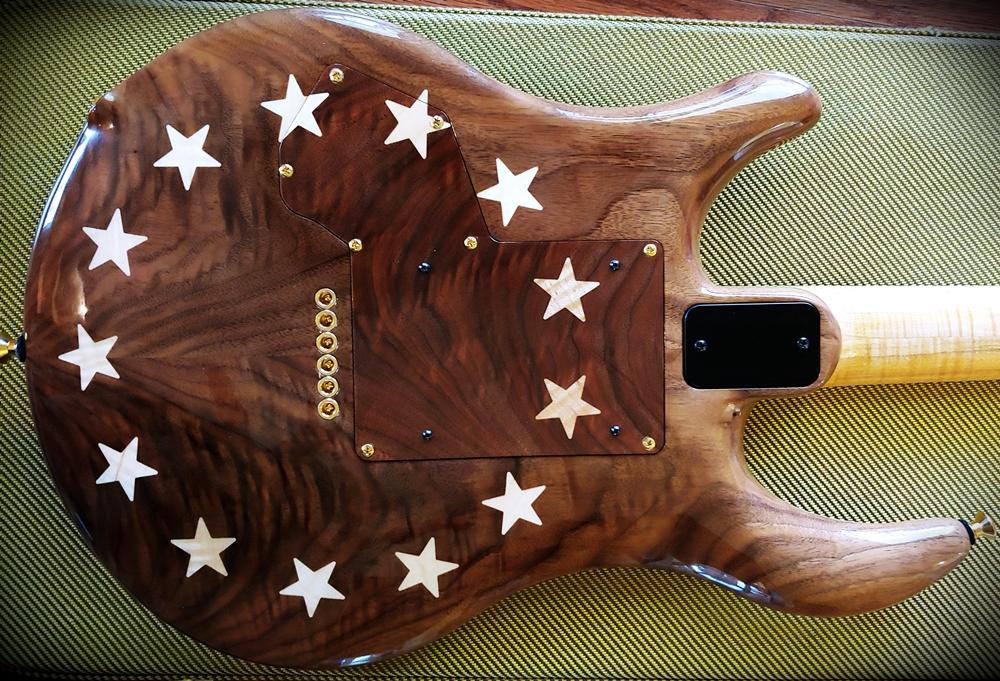 Jon Kammerer custom botique American Flag Guitar