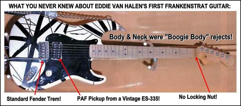 Eddie Van Halen first Frankenstrat guitar details