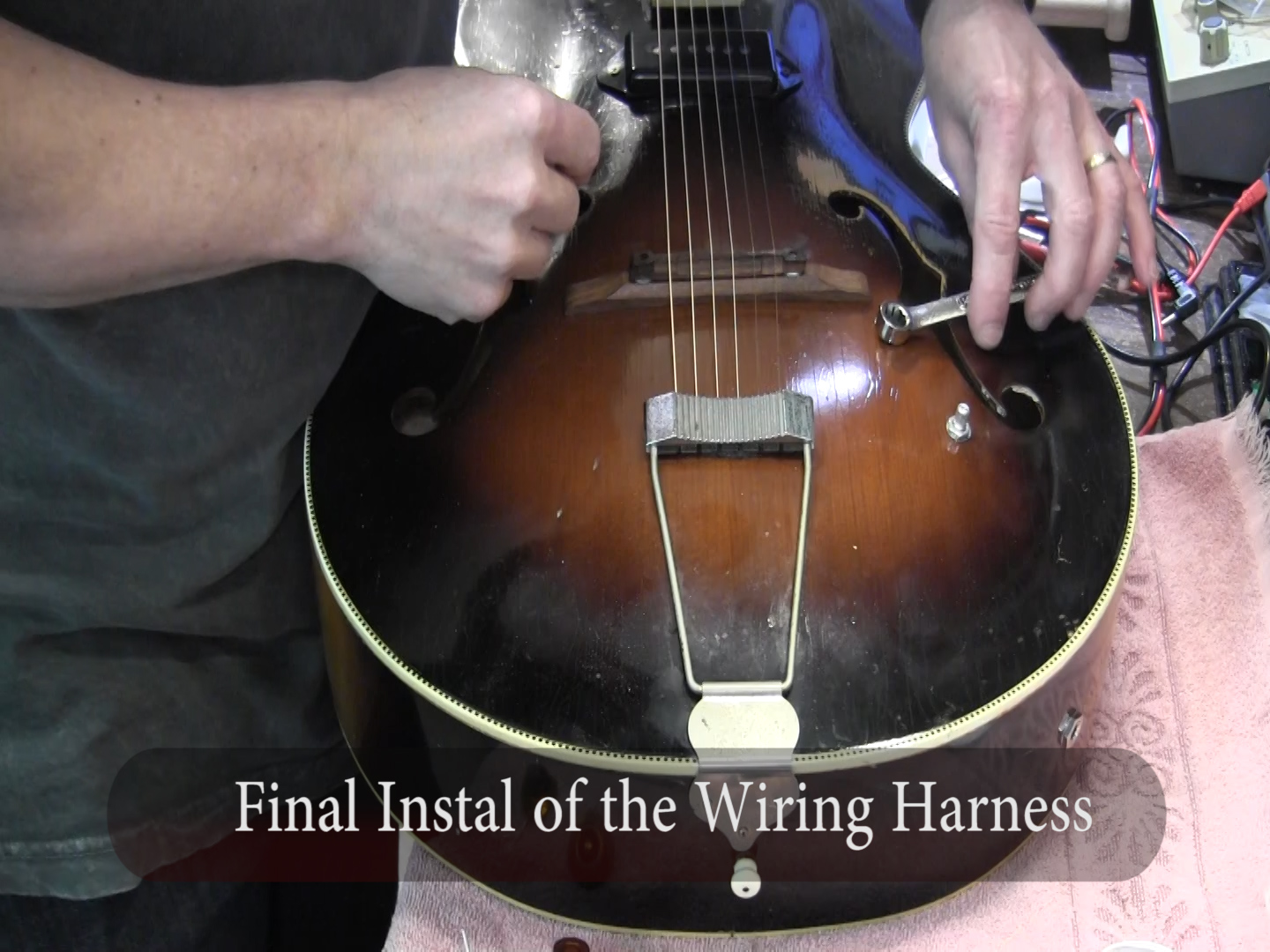 Install pickup in vintage kay silvertone arline archtop f-hole