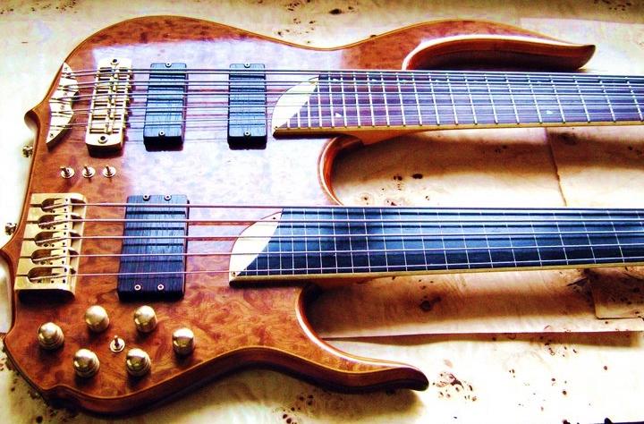 Peter Davidoff custom doubble neck bass guitar