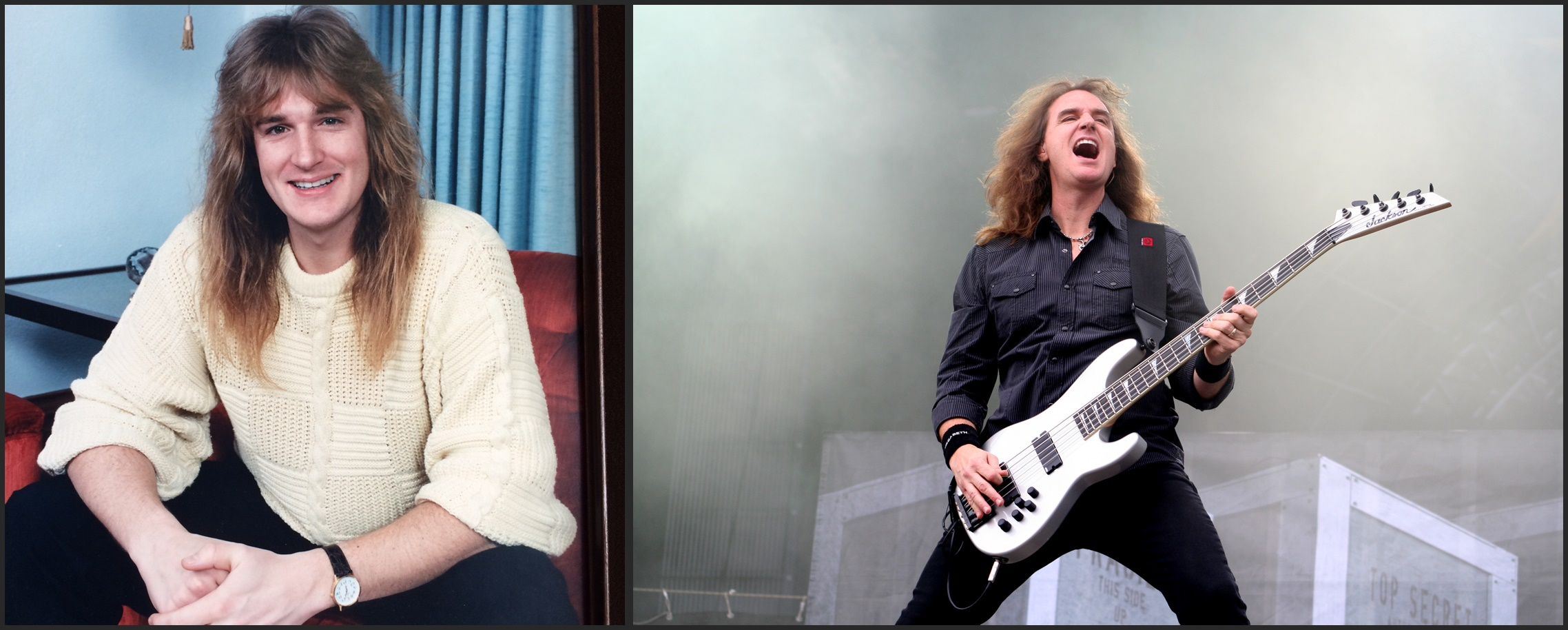 David Ellefson Before and After
