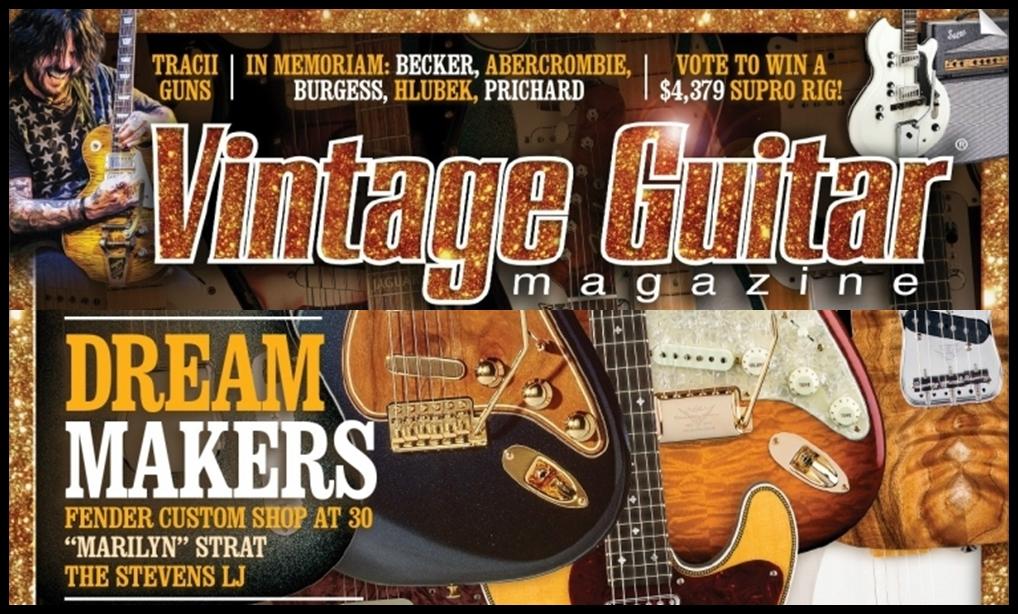 Vintage Guitar Magazine Vaughn Skow Fender Custom Shop
