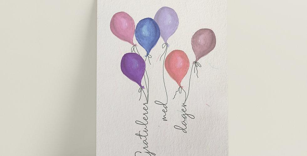 Kort: Gratulerer med dagen lilla