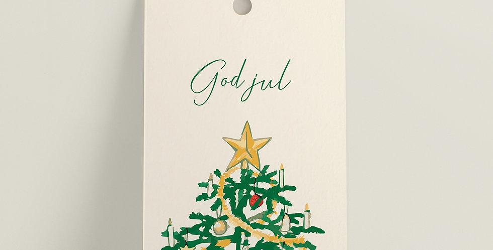 Gavelapp: Juletre - god jul!