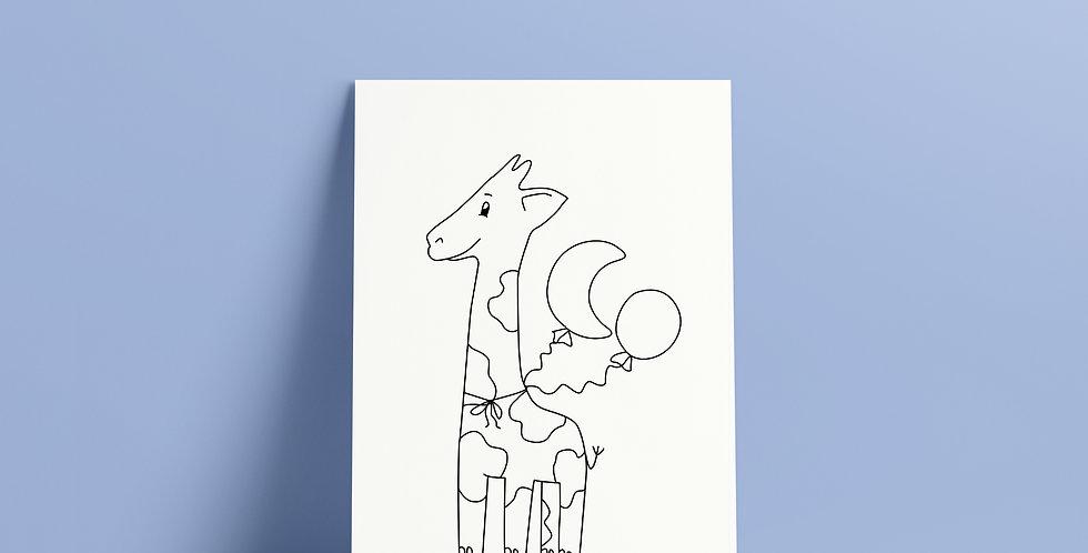 Postkort: Sigurd og Eli med ballonger