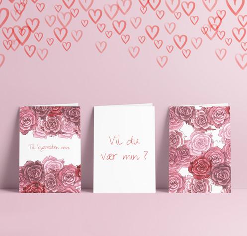 de616d0f Til en kjæreste, venninne, mor, sønn, tantebarn eller andre. En variasjon  av roser og gode ord. Pakken inneholder 6 håndbrettede kort med ...