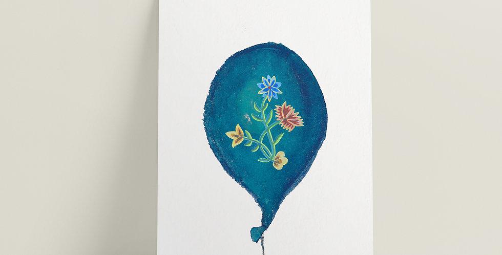 Kort: Nordlandsbunad ballong