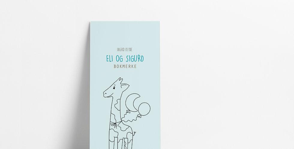 Bokmerke: Eli og Sigurd blå