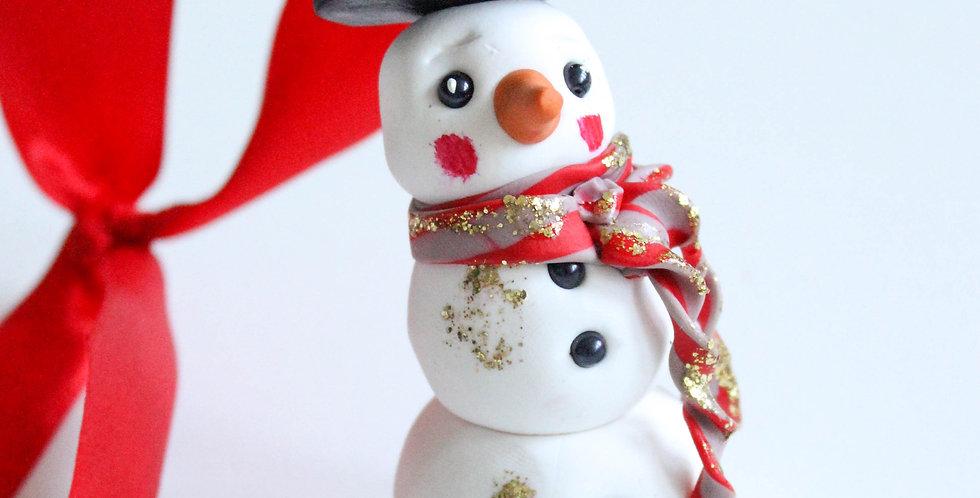 Julepynt snømann 2