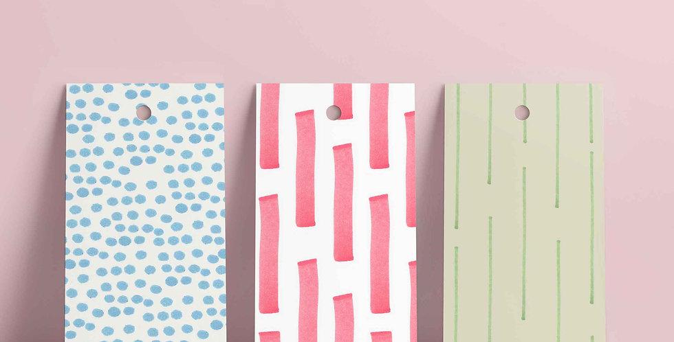 6 stk gavelapper: serien pastel