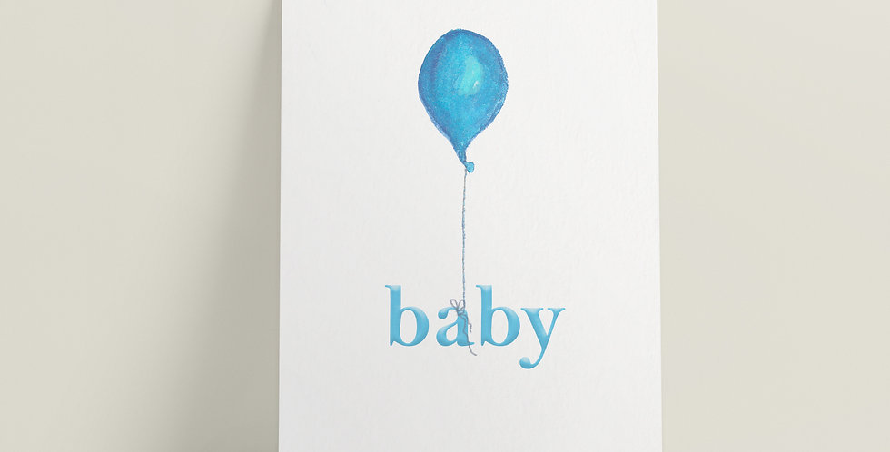 Kort: Baby Blå
