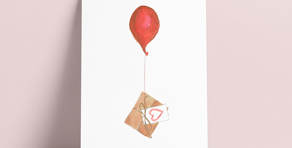Kort: Ballong