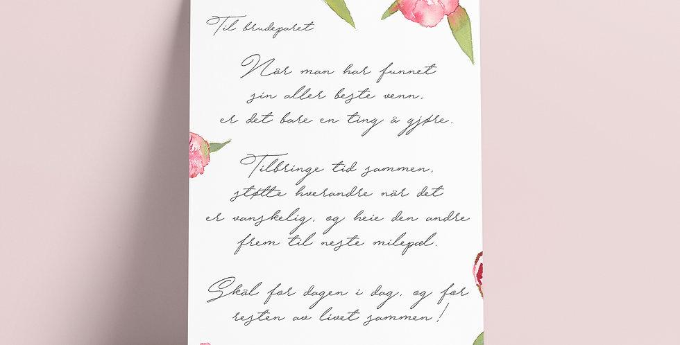 Kort: Til Brudeparet