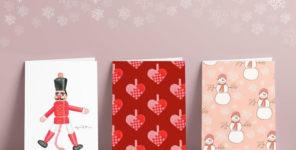 6 stk kort: Juleleker