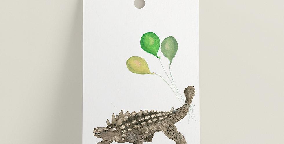 Gavelapp: Dinosaur med ballonger