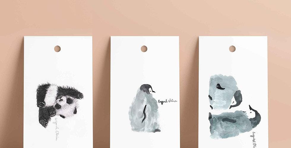 6 stk gavelapper: serien dyr
