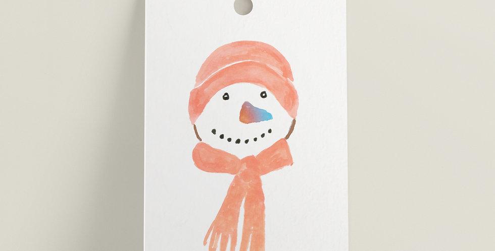Gavelapp: Snømann
