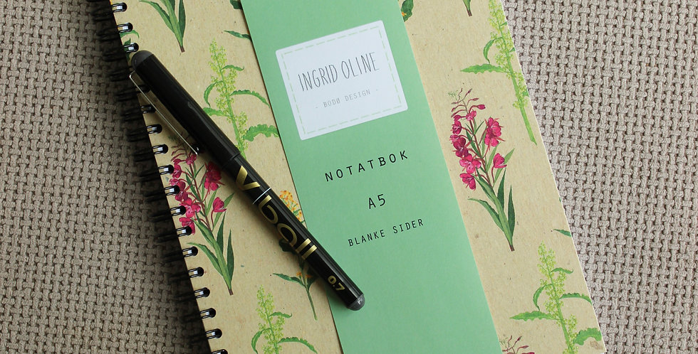 Notatbok: Botanisk