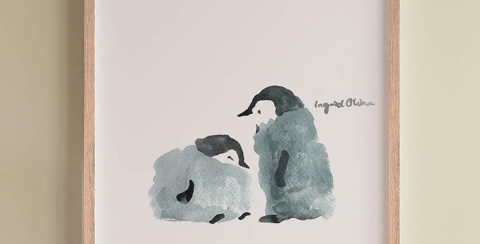 Plakat: To pingviner
