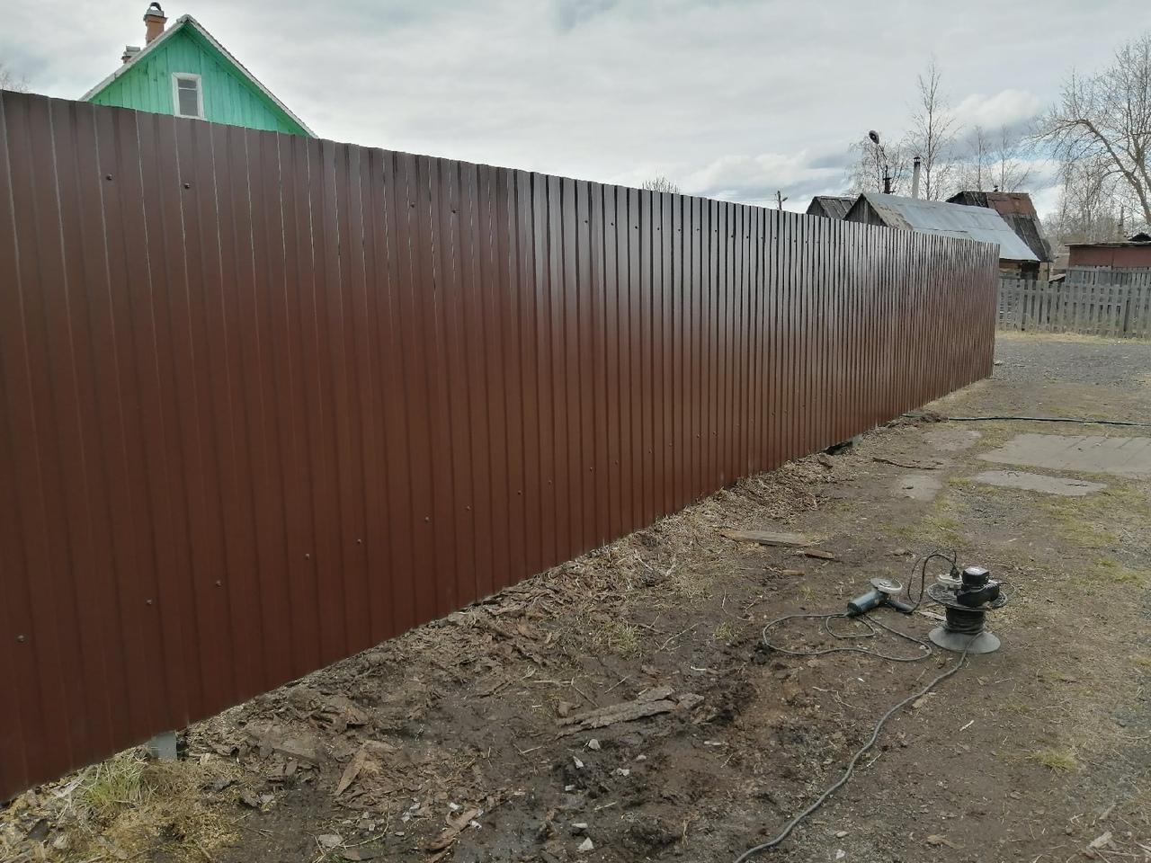 Забор из профнастила ПроСтрой