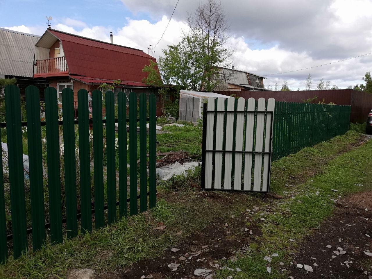 Забор из металлоштакетника ПроСтрой