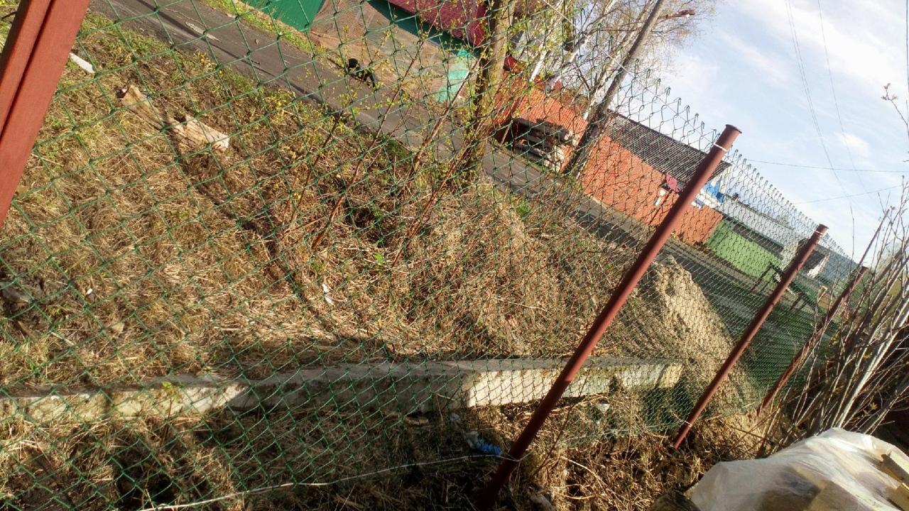 Забор из сетки-рабицы ПроСтрой