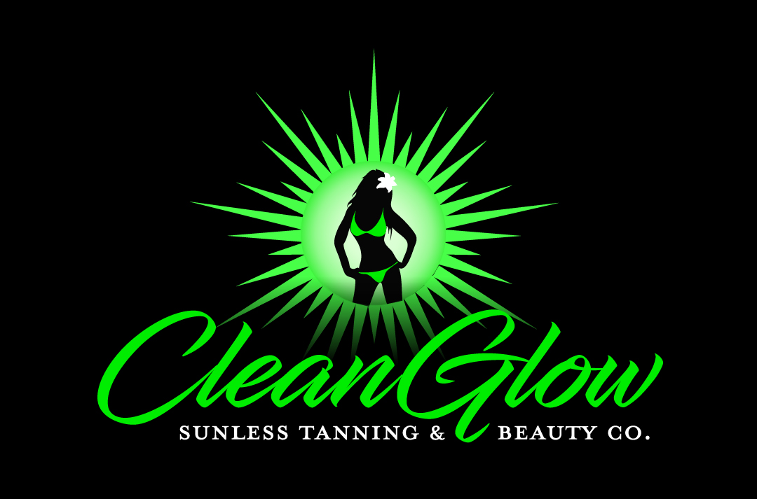Clean Glow Logo Black Background - High