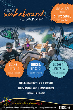 2019 Watersports Camp Poster