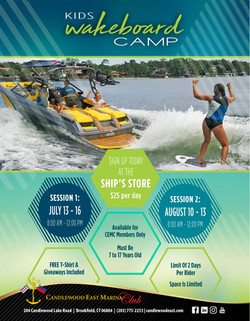 2020 Watersports Clinic Flyer