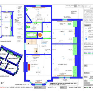 YPP364 - Existing first floor plumbing and electrics plan - BH14