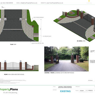 YPP377 - Existing Front Entrance/ Gates/Piers - WD7