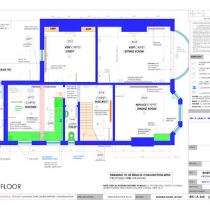 YPP364 - Existing ground floor plumbing and electrics plan - BH14