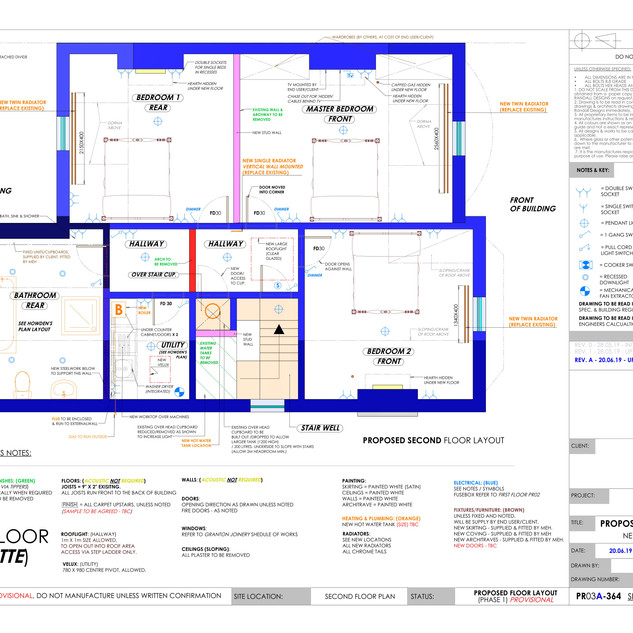 YPP364 - Proposed second floor plumbing and electrics - BH14