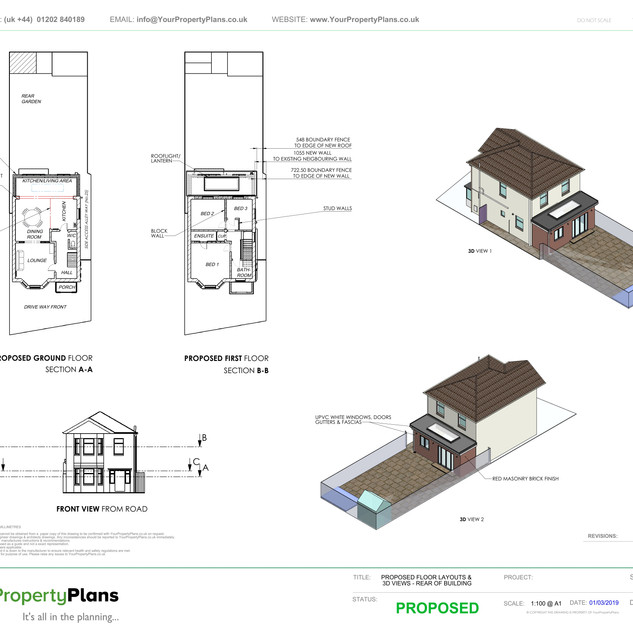 YPP352 - Proposed Rear Extension - BH9