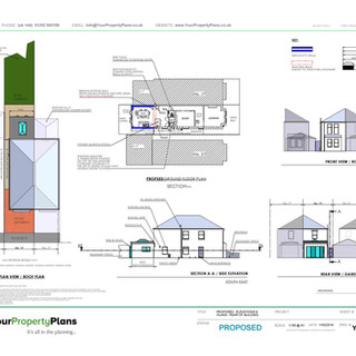 YPP350 - Proposed Rear Extension Planning Drawing - BH6