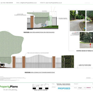 YPP368 - Proposed Front Entrance/ Gates planning drawing - EN5
