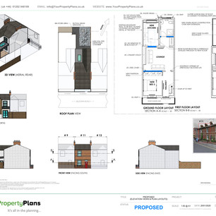 YPP387 - Proposed rear extension planning drawing - BH15