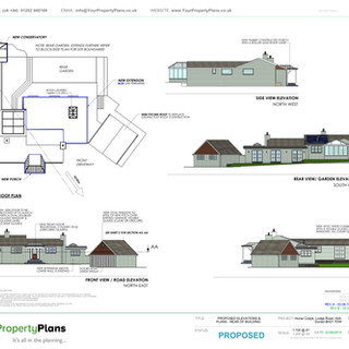 YPP360 - Proposed - Plan View & Elevations - BH21