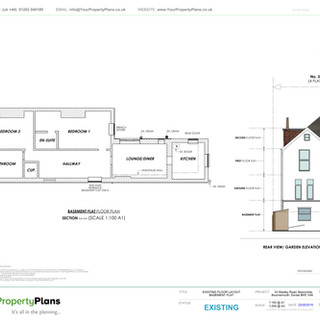 YPP361 - Existing - Floor Plan Layout - Boscombe, Bournemouth BH5