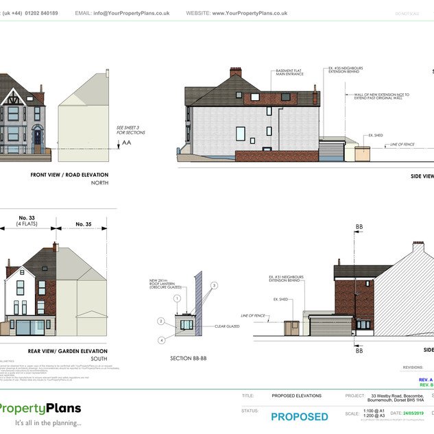 YPP361 - Proposed - Elevation Views - BH5