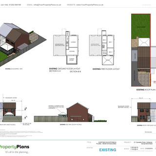 YPP357 - Existing - Rear Extension -  East Dorset Verwood BH31
