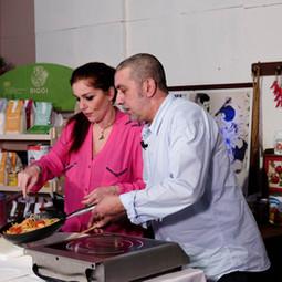 Rosario Bella e Loredana Scalia chef a Spazio Mattino
