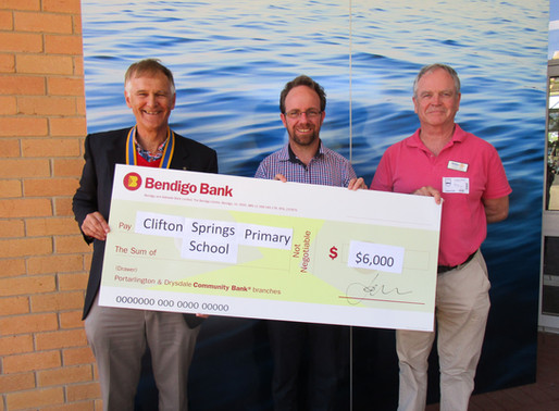 Clifton Springs Primary School Cheque