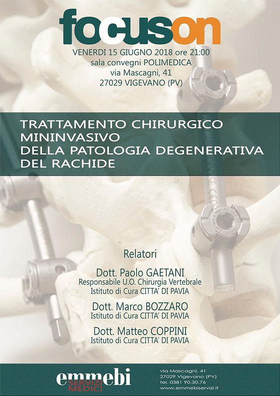 Trattamento chirurgico mininvasivo della patologia degenrativa del rachide
