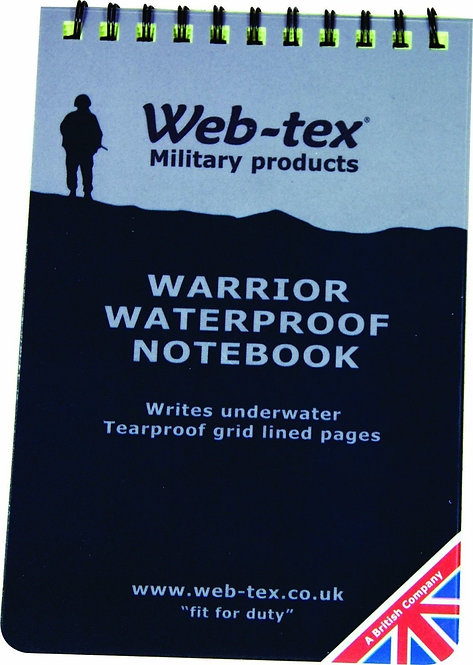 WATERPROOF RING BOUND TEAR PROOF POCKET A6 GRID NOTE PAD BOOK NOTEBOOK