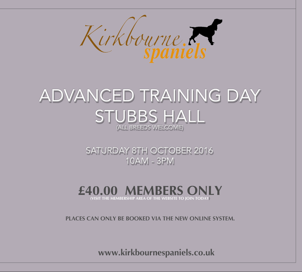 8TH OCTOBER 2016 - ADVANCED TRAINING DAY